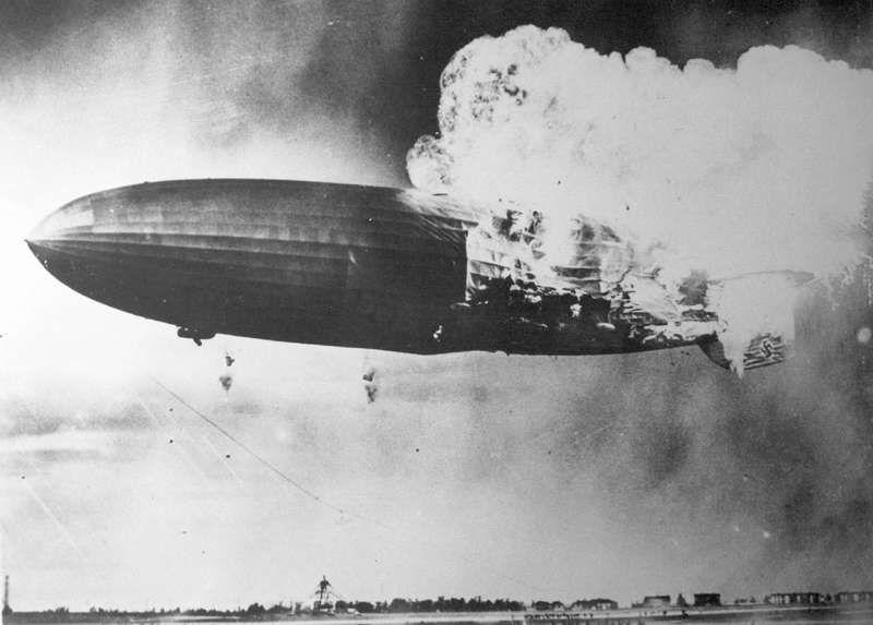 Le Hindenburg, avant et après la catastrophe